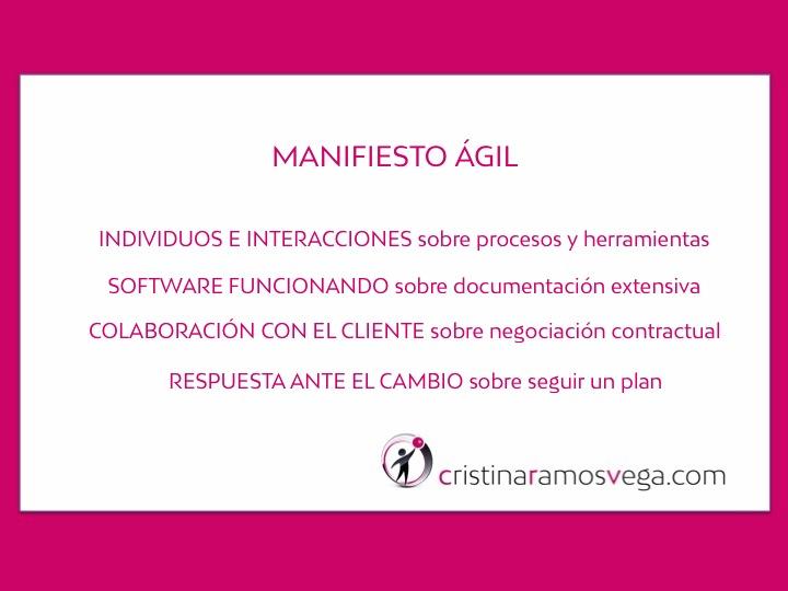 Cita con el #ManifiestoAgil
